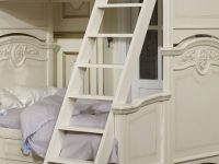 Лестница к кровати Afina белый с жемчугом