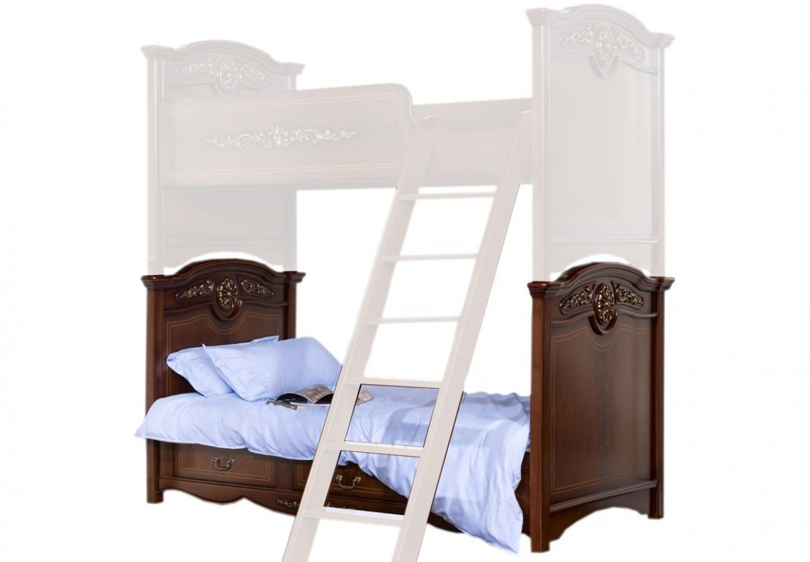 Кровать детская Afina орех с золотом1