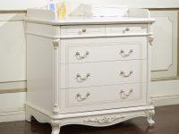 Пеленальный стол Afina белый с жемчугом
