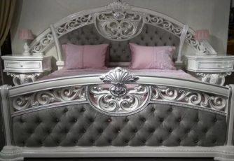 Спальня Марелла Арида Белый с серебром