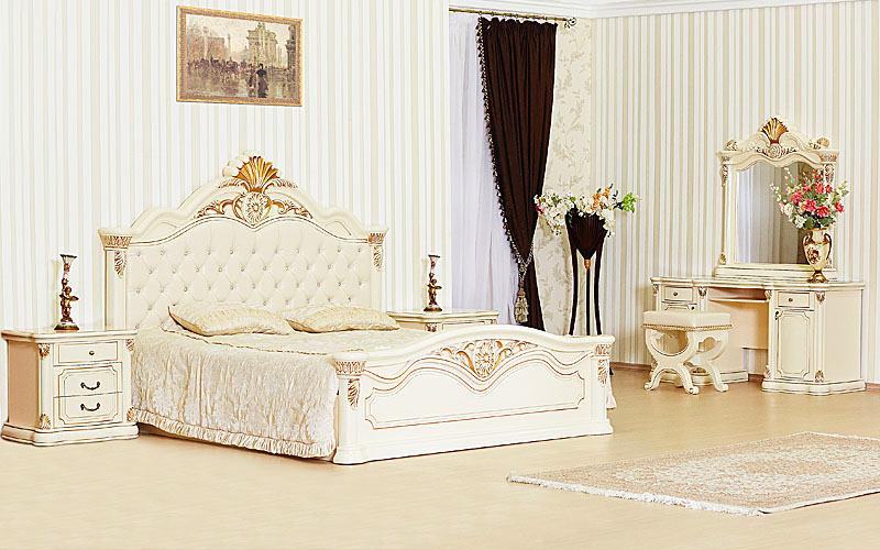 Кровать Меланж крем