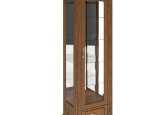 Шкаф с витриной Верди Люкс 1з П487.11з Черешня