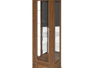 Шкаф с витриной Верди Люкс 1з П487.11з-01 Черешня