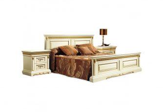 Кровать двуспальная Милана П294.05м слоновая кость