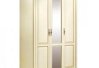 Шкаф трехдверный Милана П294.01 слоновая кость