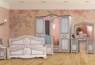 Спальня Азалия белая ясень