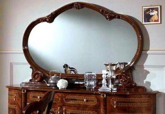 Зеркало в раме Роза Орех