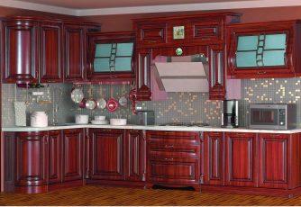 Кухня San-Marino радиусная угловая 3600 орех