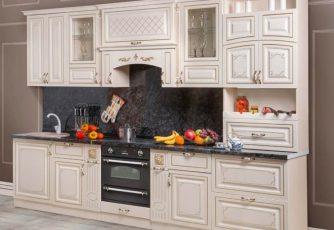 Кухня Прага 3200 белый ясень