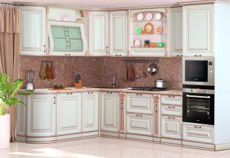 Кухня San-Marino радиусная угловая 3000 крем