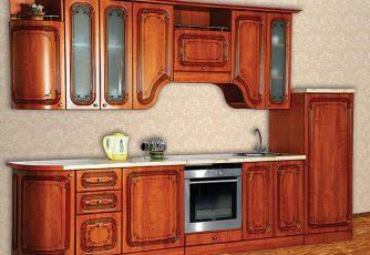 Кухня Изабель-2 радиусная орех