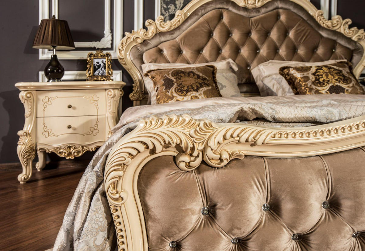Кровать Росселла крем глянец