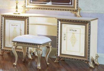 Стол туалетный Версаль слоновая кость Мэри мебель