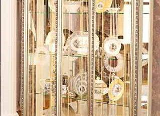 Шкаф 3-дв. без короны Версаль ГВ-04 слоновая кость