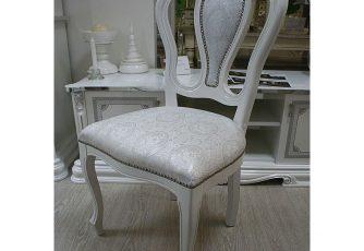 Стул Гретта белый/серебро