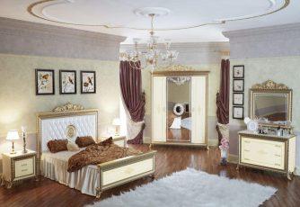 Спальня Версаль слоновая кость Мэри мебель
