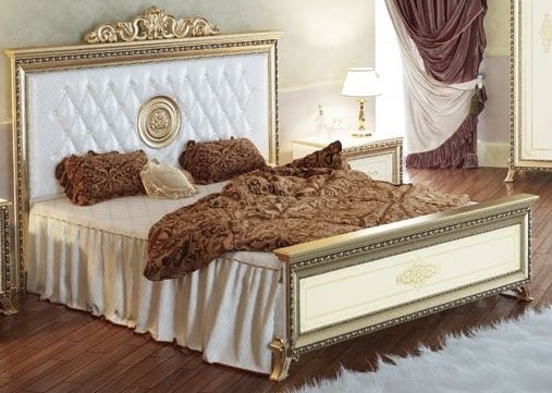 Кровать Версаль слоновая кость Мэри мебель