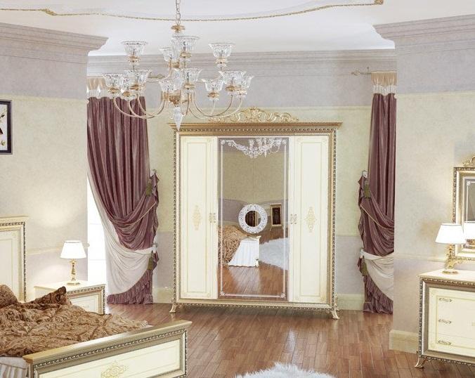 Шкаф Версаль слоновая кость Мэри мебель