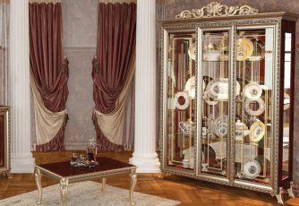 Шкаф 3-дв. без короны Версаль ГВ-04 орех