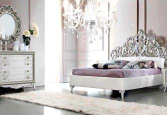 Спальня Стефани белое серебро