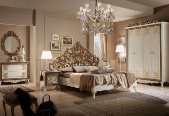 Спальня Стефани белое золото