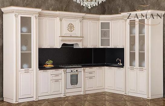 Кухня Валенсия угловая крем Буденновская МК