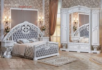 Спальня Марелла белый/серебро