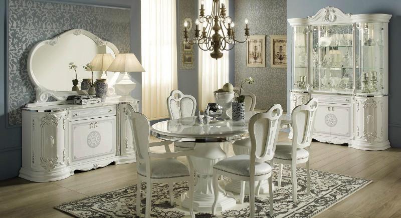 Гостиная Гретта белый/серебро