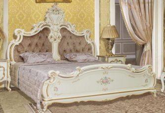 Кровать 1,8х2,0 Шейх СШ-03 слоновая кость