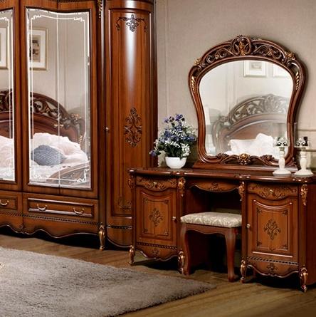 Туалетный стол с навесным зеркалом Аллегро орех
