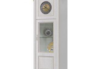 Шкаф с часами Да Винчи ГД-08 слоновая кость