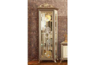 Шкаф 1-дв. без короны Версаль ГВ-01 слоновая кость