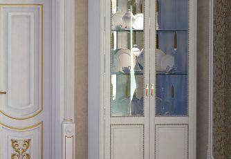 Шкаф 2-х дверный Да Винчи ГД-04 слоновая кость