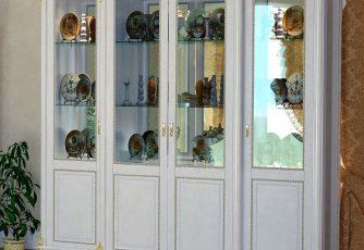 Шкаф 4-х дверный Да Винчи ГД-05 слоновая кость