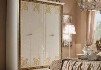 Шкаф Стефани белое золото