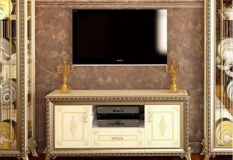 Тумба TV Версаль ГВ-03 слоновая кость