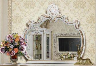 Зеркало Шейх ГШ-07 слоновая кость