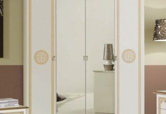 Шкаф 4-х дверный Гретта золото