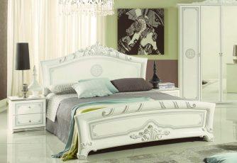 Кровать ЕВ60 Европа белое серебро