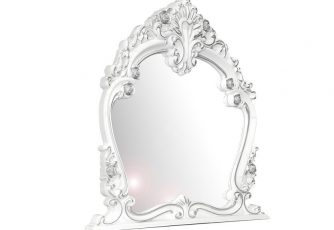 Зеркало Дольче Вита СДВ-06 белый глянец /серебро