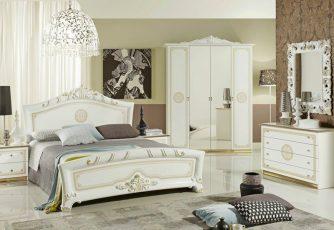 Спальня Европа белое золото