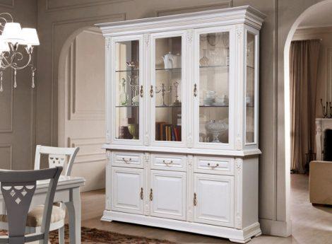 Белые витрины для гостиной