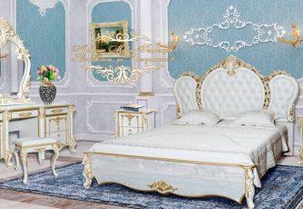 Спальня Дольче Вита белый глянец/золото
