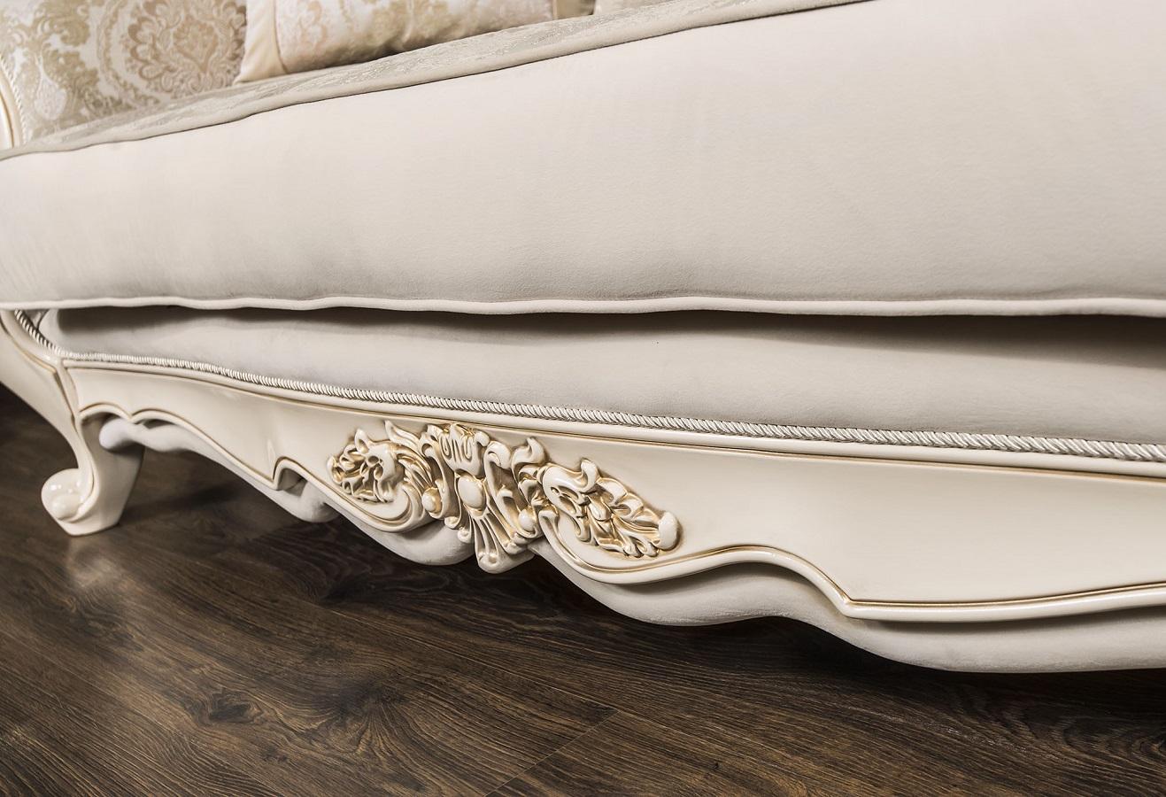 Комплект мягкой мебели Джоконда Крем глянец