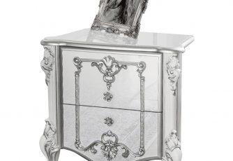 Тумба прикроватная Дольче Вита СДВ-04 белый глянец /серебро
