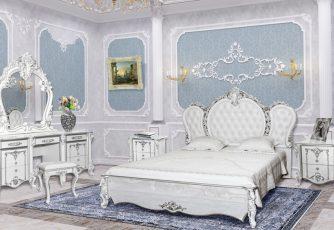 Спальня Дольче Вита белый глянец /серебро
