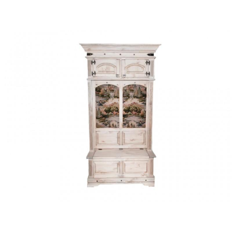 Шкаф комбинированный Викинг 05 Сосна брашированная