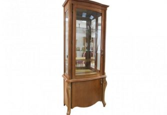 Шкаф с витриной Луиза ММ 257-01 коньяк