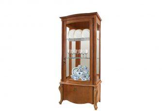 Шкаф с витриной Луиза ММ 257-10/01 коньяк