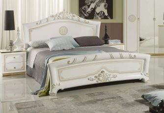 Кровать 1,8 м ЕВ60 Европа белое золото